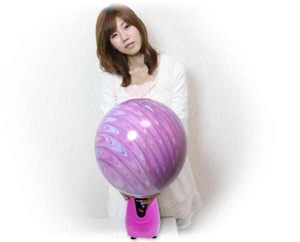 電動ふうせんポンプでパンチボール作成